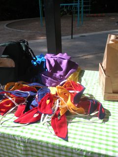 Masks (wings, first aide bag)